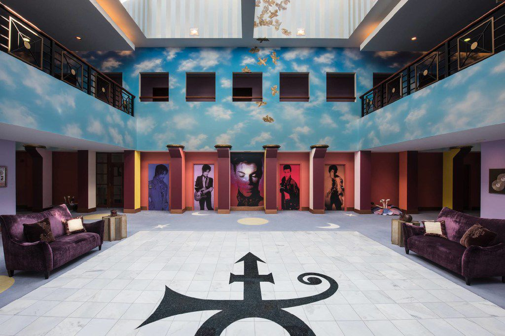 Step into the grand atrium at Paisley Park and you'll be in awe of all that Prince achieved. (Paisley Park/NPG Records)