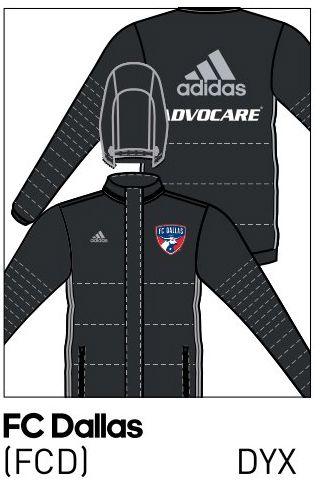 2016 FC Dallas stadium jacket.