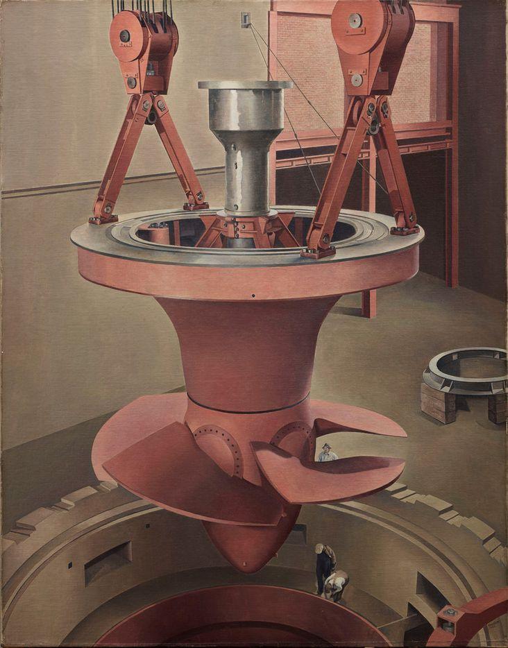 Charles Sheeler, Suspended Power, 1939, oil on canvas, Dallas Museum of Art, gift of Edmund J. Kahn.