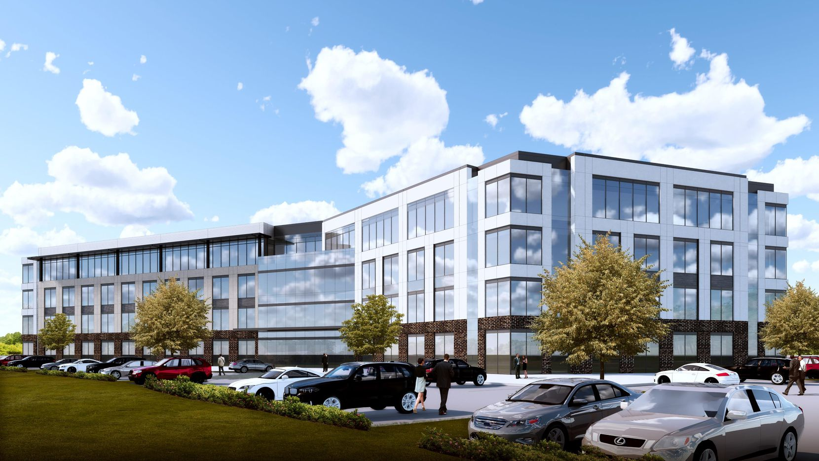 Developer Cawley Partners' new Plano building is planned on Headquarters Drive between the Dallas North Tollway and Preston Road.