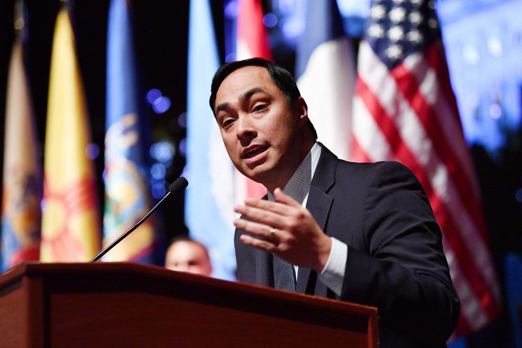 Rep. Joaquin Castro, D-San Antonio, on Friday filed a resolution designed to block the national emergency that President Donald Trump declared to build more of his border wall. (Photo by Nicholas Kamm / AFP)NICHOLAS KAMM/AFP/Getty Images