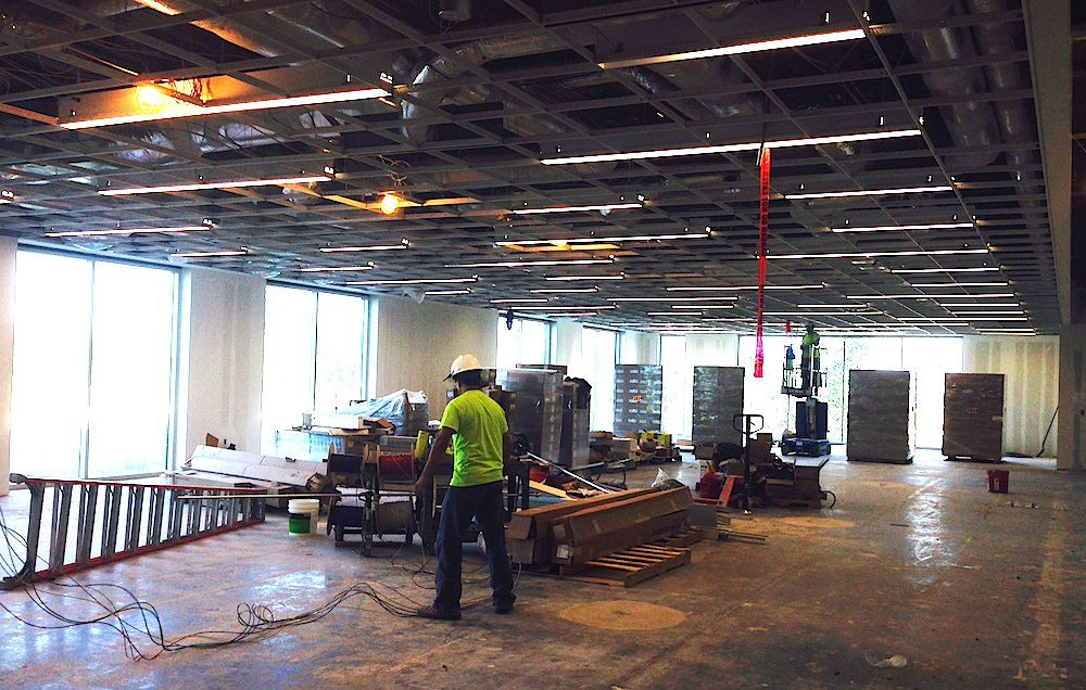 Construction is still underway on offices in the new FedEx Office campus. (Steve Brown)