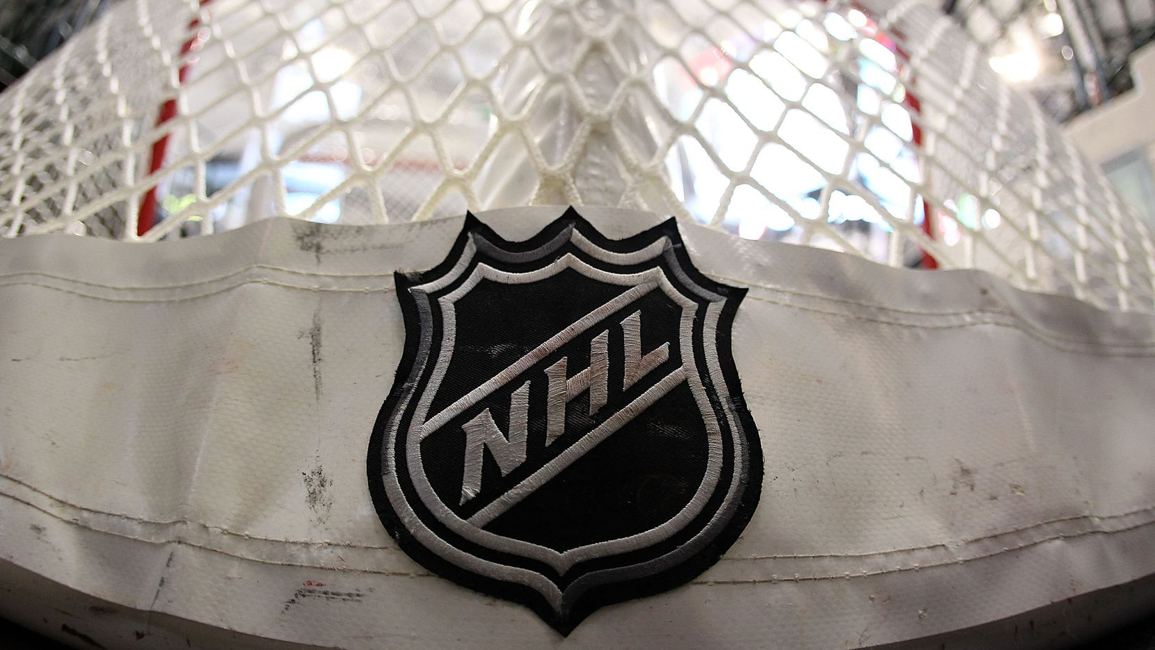 DALLAS - APRIL 08:  An NHL logo on a goal at American Airlines Center on April 8, 2010 in Dallas, Texas.  (Photo by Ronald Martinez/Getty Images)