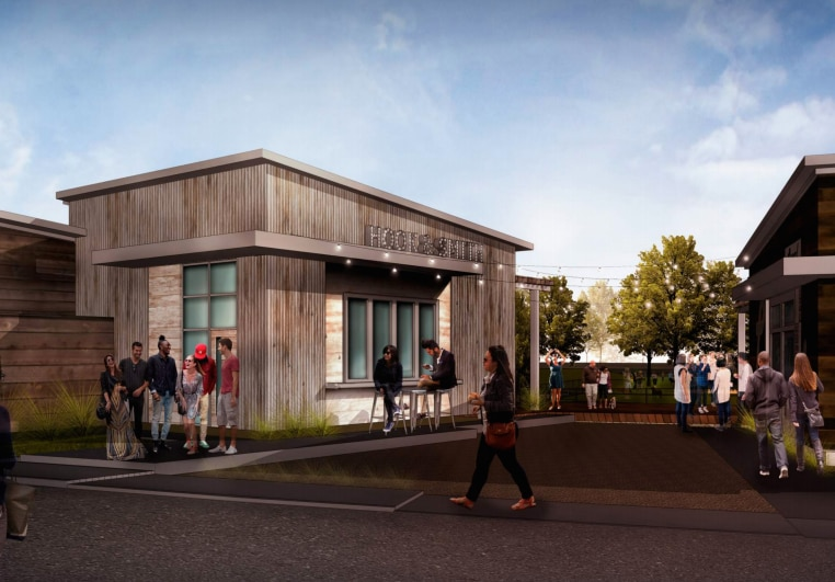 Here's a rendering of The Shacks, a new restaurant park and dog park opening in The Colony.