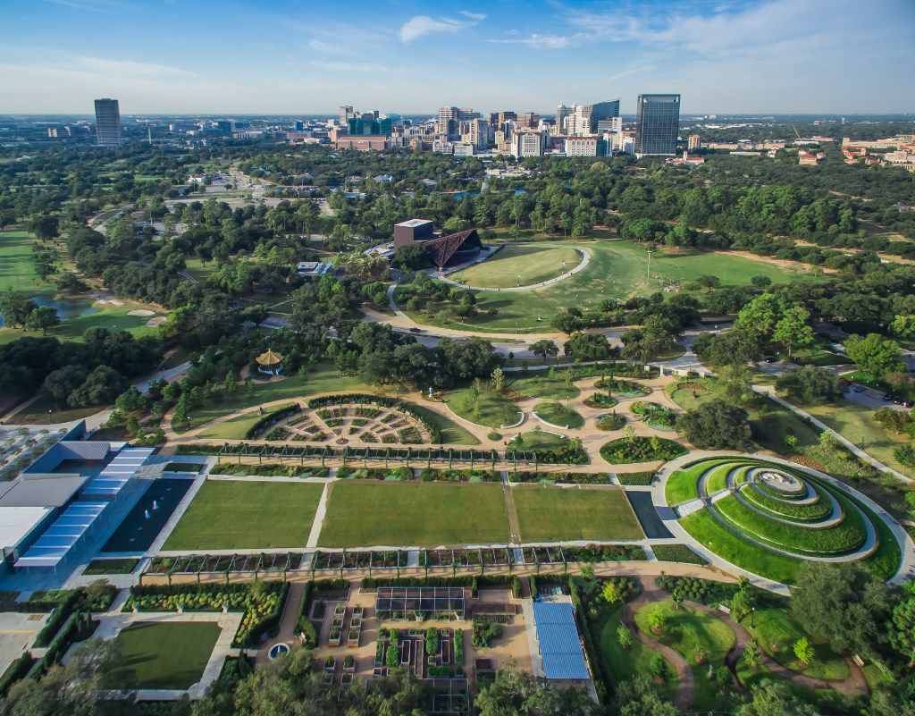 Aerial view of Hermann Park in Houston