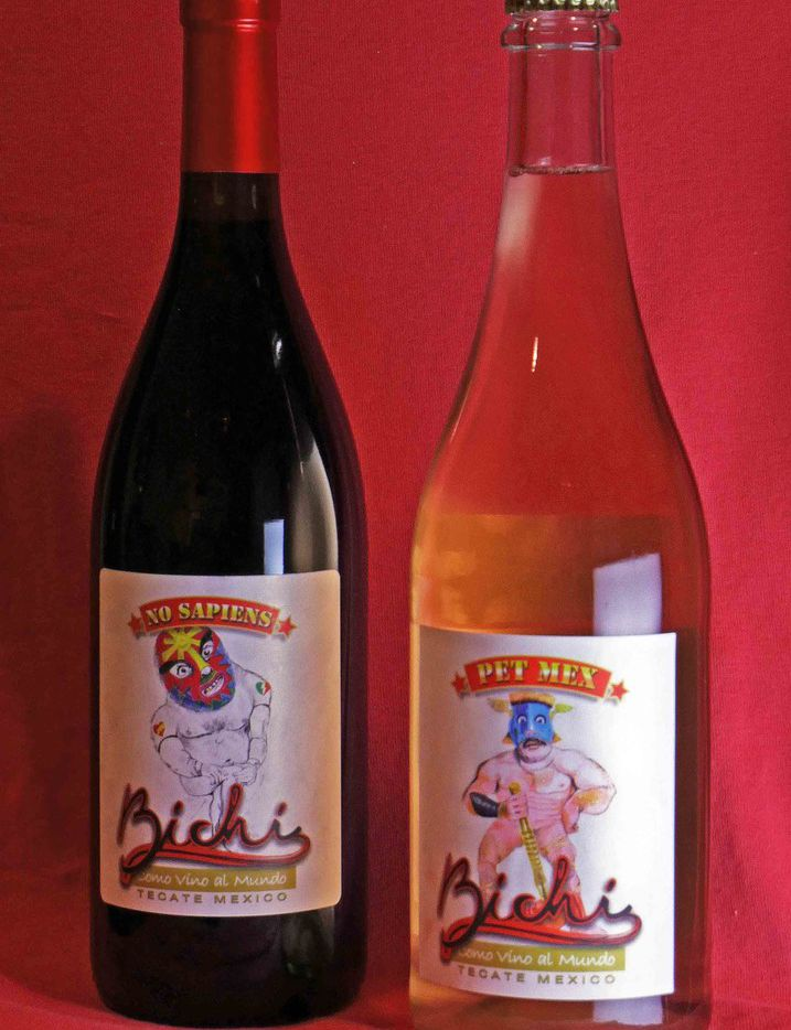 Two natural wines from Bichi Wines in Mexico include No Sapiens and Pet-Mex.