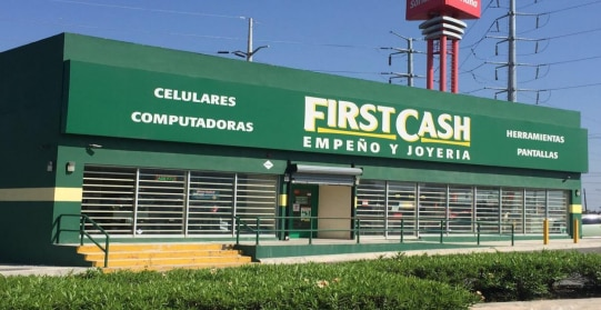 Pawn shop operator FirstCash is growing through acquisitions in Latin America. This store photo is part of a recent company presentation to investors.