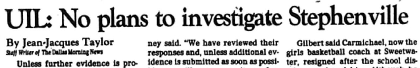 The above headline appeared in The News on August 24, 1994.