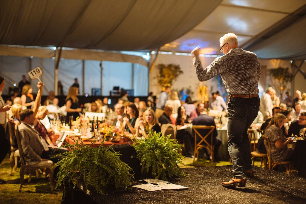 Auctioneer John Curley at Sonoma Wine Country Weekend Auction