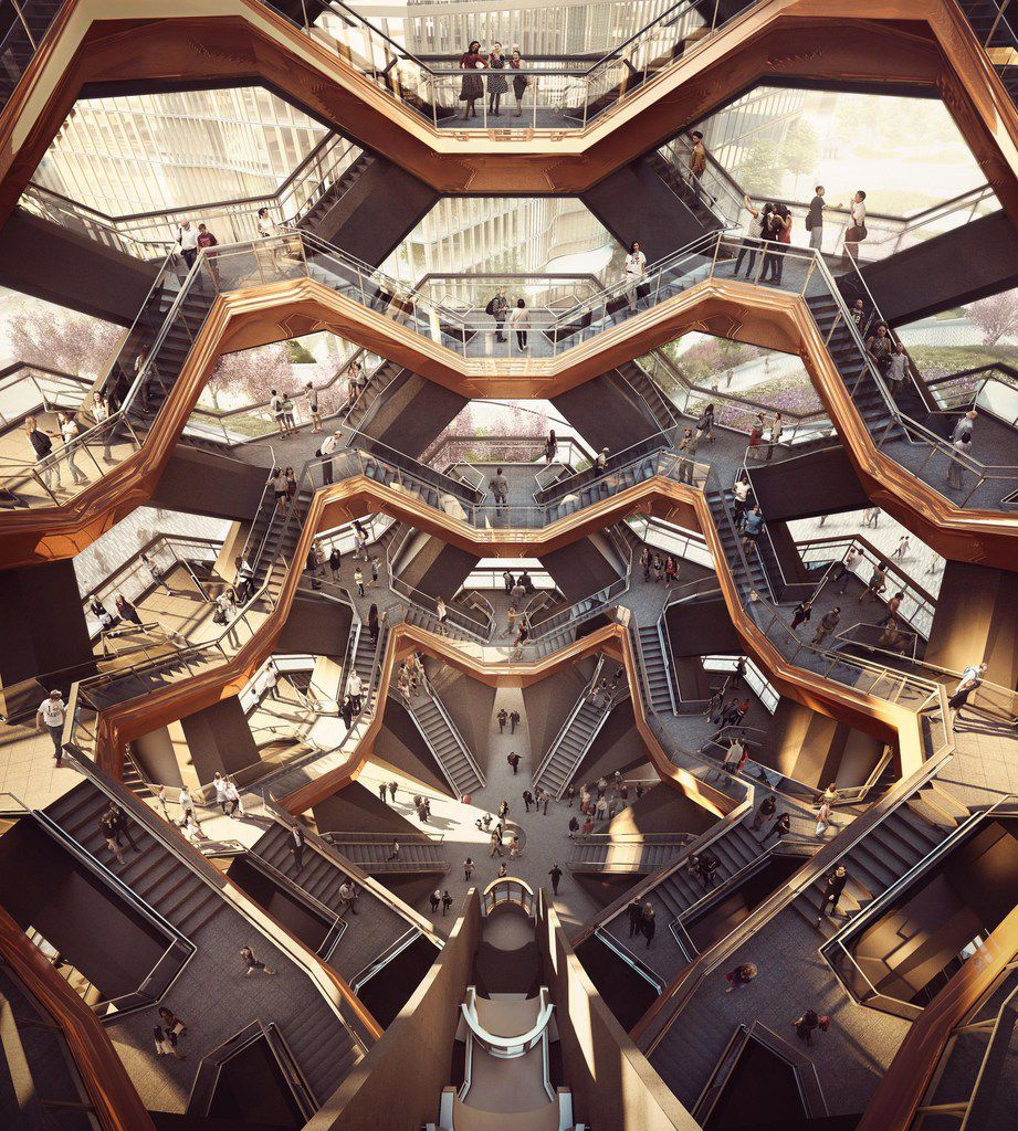 Interior view of The Vessel at Hudson Yards