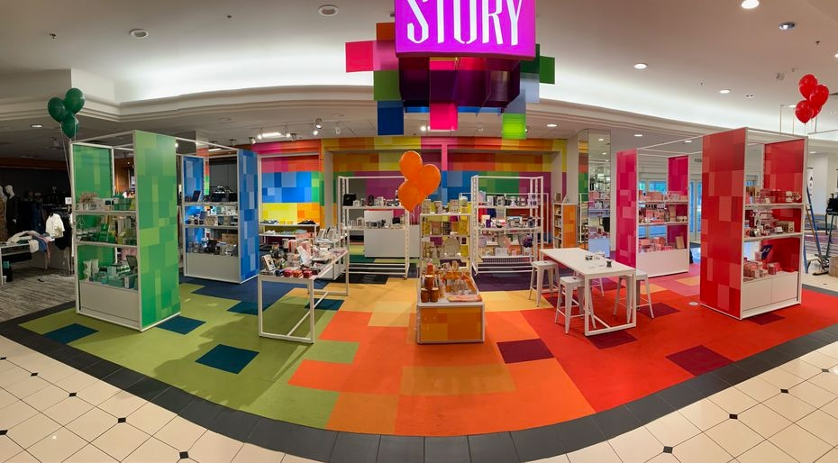 The first Story shop inside the Macy's at NorthPark Center was about color. A new one with the outdoors theme will be unveiled on July 9 on the first level at the entrance from Park Lane in Dallas.