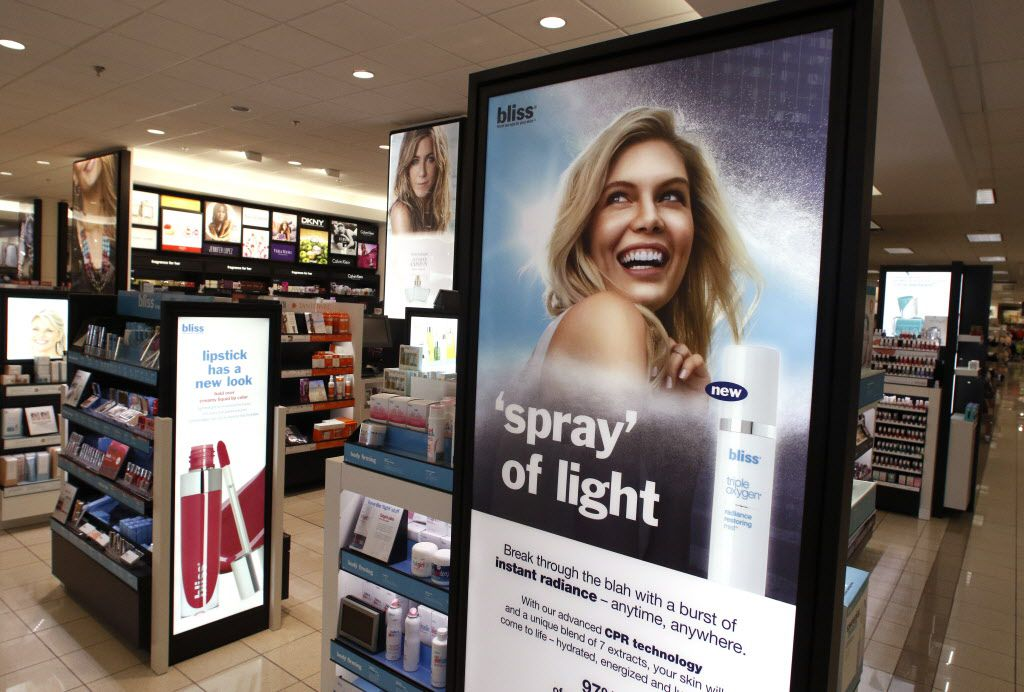 Kohl's recently completed its roll out of beauty departments in all 1,100 stores, including this store in Flower Mound. Kohl's top beauty brands include Lorac, Bliss and theBalm. Photo taken on Tuesday, August 23, 2016. (David Woo/The Dallas Morning News)