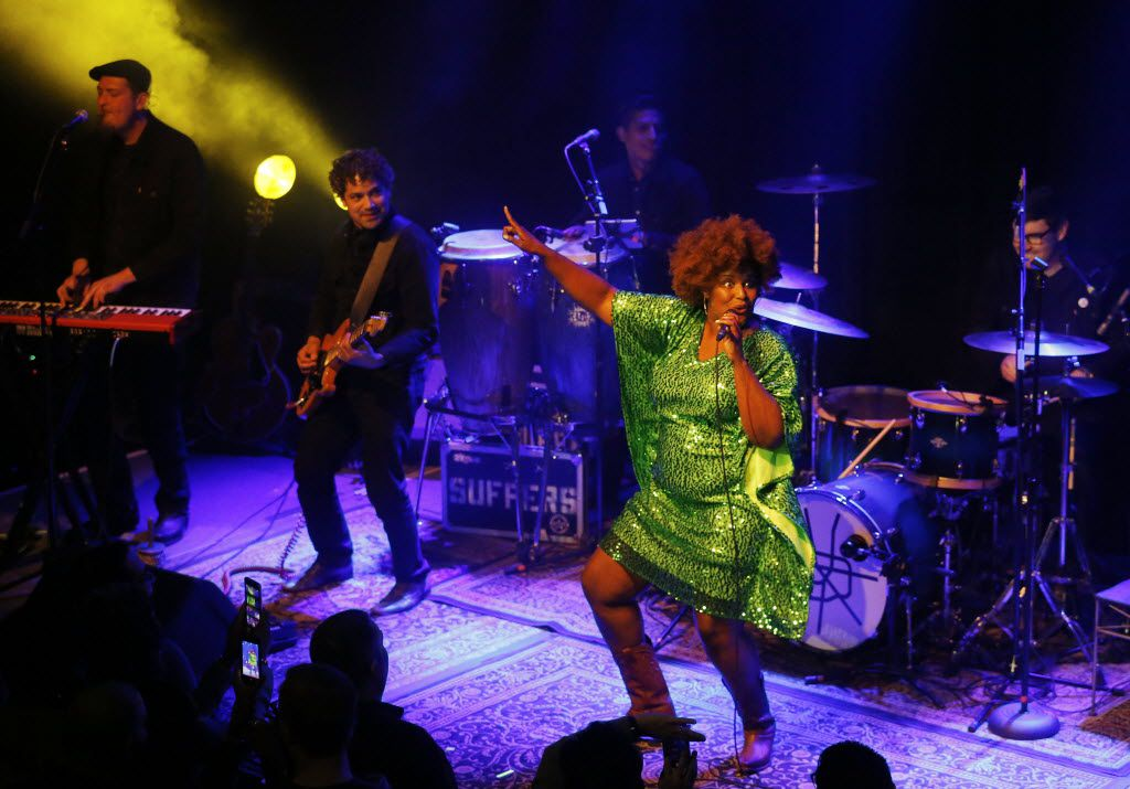 The Suffers perform at The Kessler Theater in Dallas Friday April 22, 2016. (Andy Jacobsohn/The Dallas Morning News)