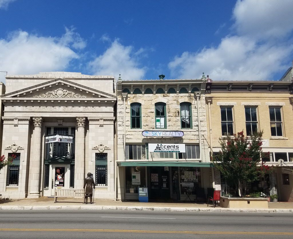 Most of downtown Georgetown's buildings were constructed in the late 1800s or early 1900s, including the 1910 Farmers State Bank, left, that currently houses the Williamson Museum.