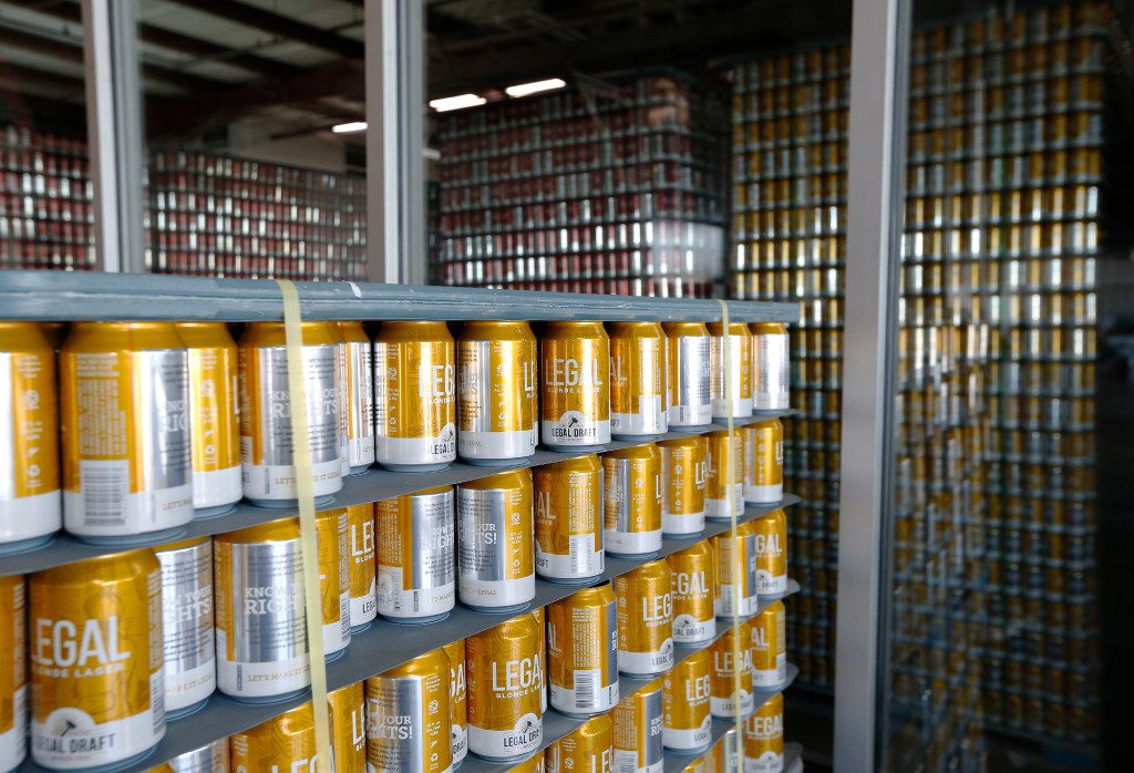 Legal Draft Beer Co. in Arlington is one of the many that prefers to sell its product in cans. Cans have risen in popularity recently due to their ability to block light and oxygen from reaching the beer inside.