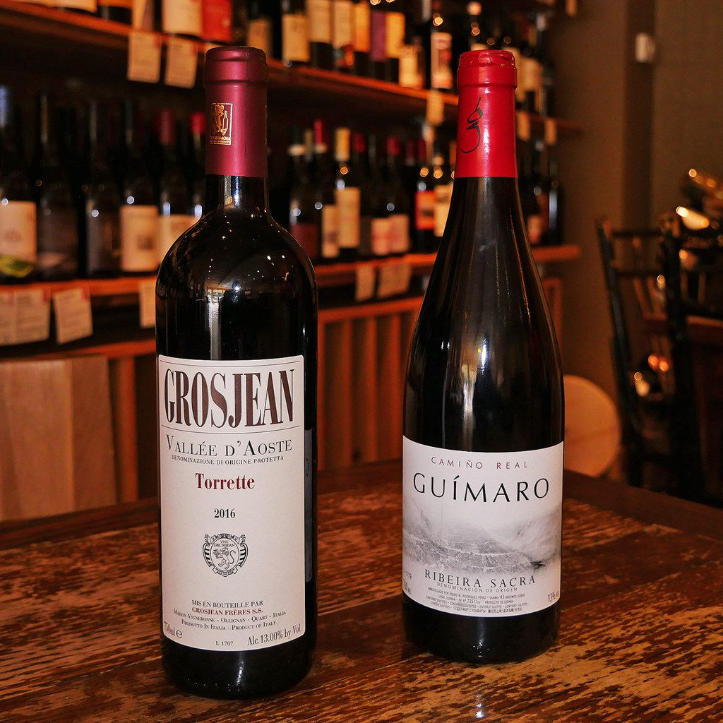 2016 Grosjean Torrette and 2016 Guimaro  Camino Real  Ribeira Sacra at Scardello Dallas
