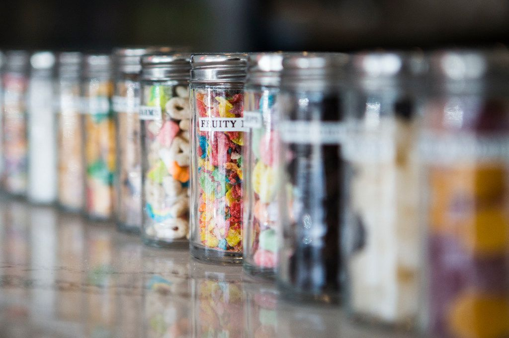 Ice cream toppings at Sweet Daze Dessert Bar on Thursday, June 15, 2017, in Richardson, Texas. (Ryan Michalesko/The Dallas Morning News)