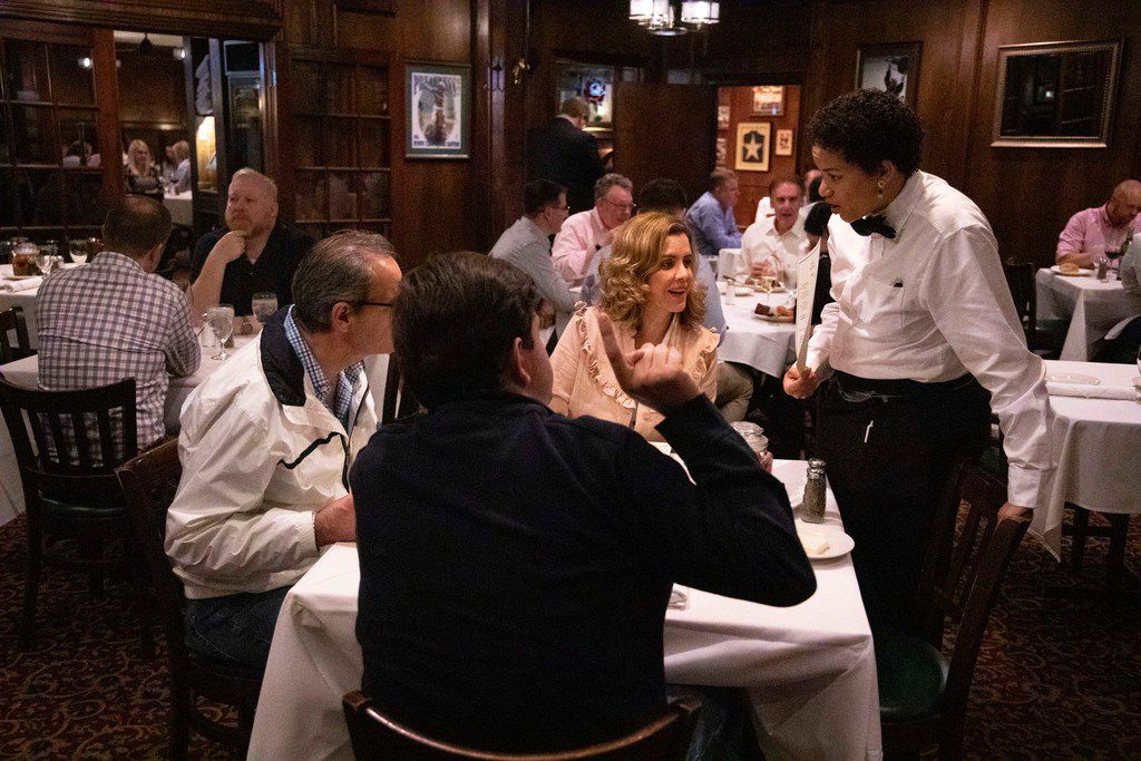 One of the seven dining rooms at Bob's Steak and Chop House in Dallas