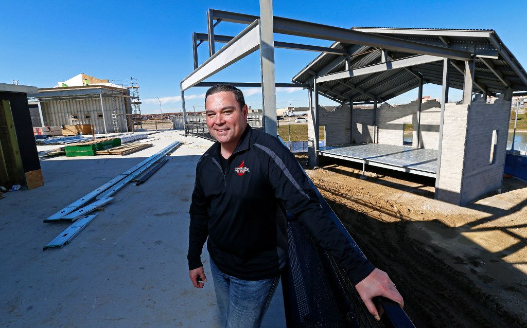 Ian Vaughn poses for a photograph at Lava Cantina, which is under construction, in The Colony, Texas, Thursday, Feb. 16, 2017. (Jae S. Lee/The Dallas Morning News)