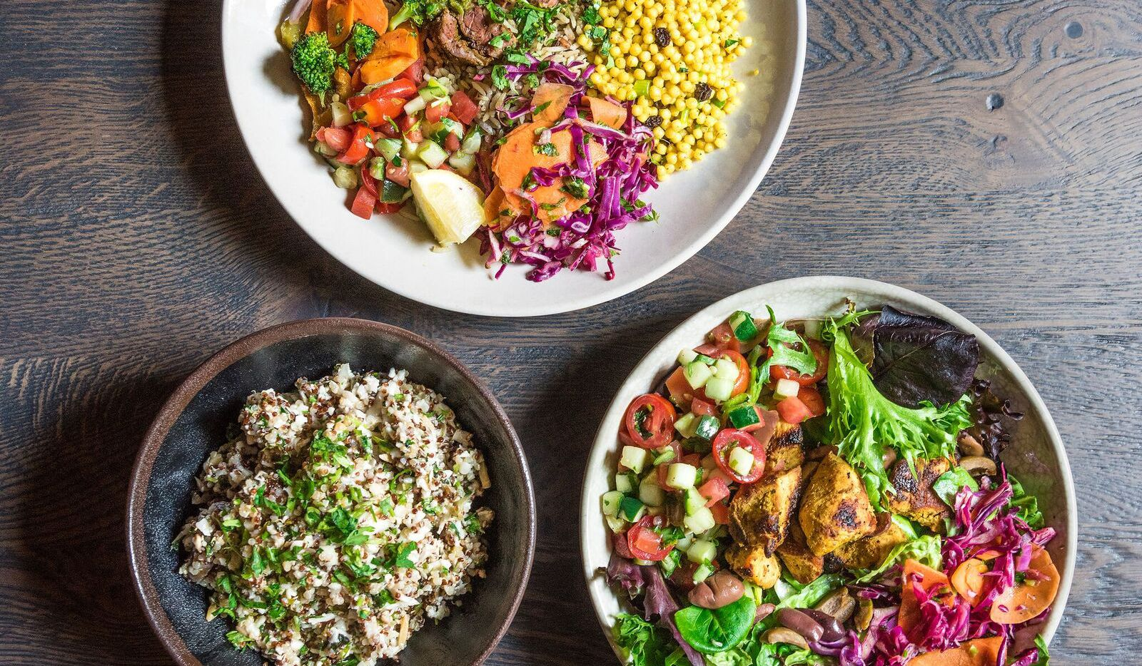 Roti Modern Mediterranean opens at McKinney & Olive in Uptown Dallas on June 15, 2017.