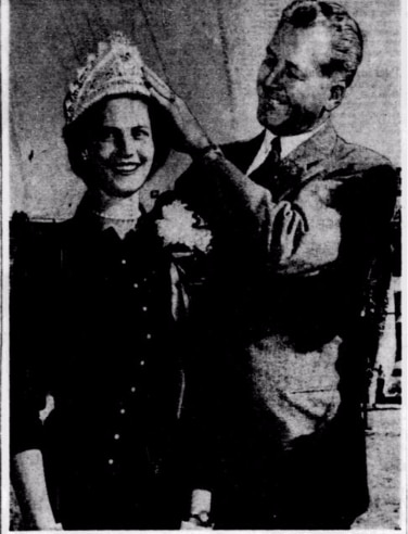 Ann Rich was crowned SMU Homecoming Queen in 1955.