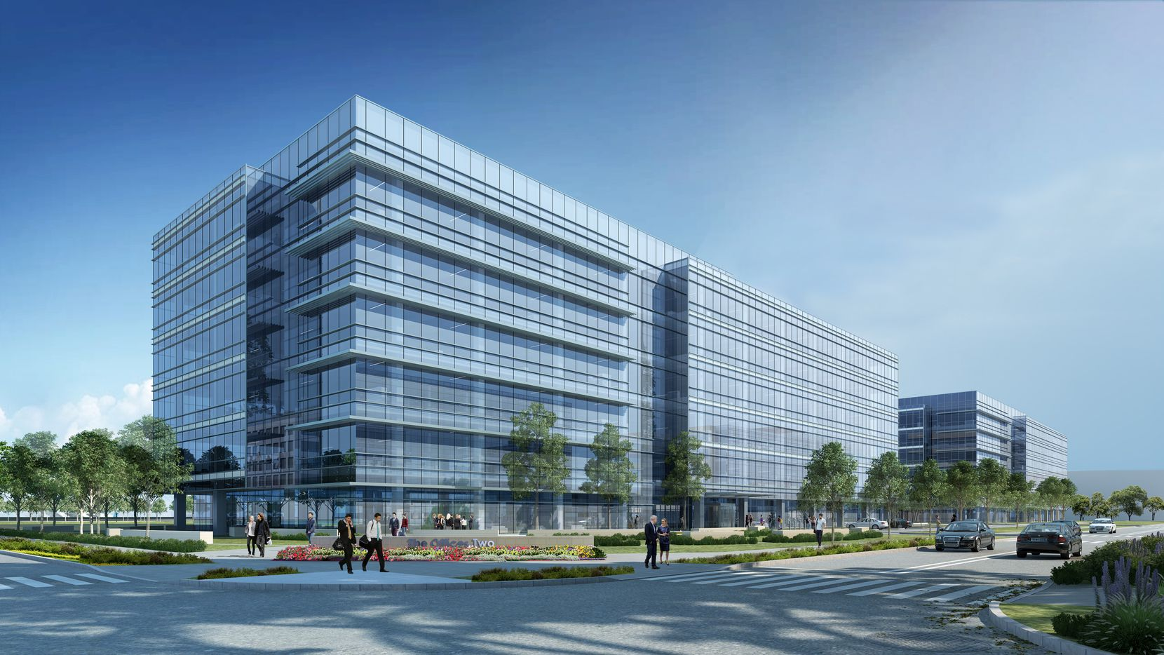Artist's rendering for the Offices Two at Frisco Station