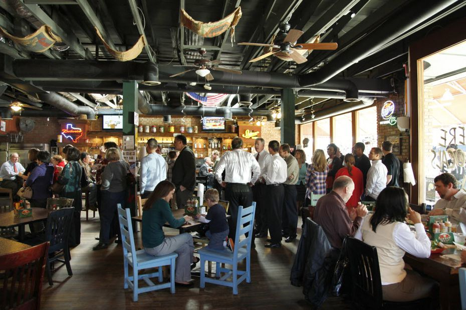 Here's a look inside Twisted Root Burger Co. in Deep Ellum, which regularly sees long lines at lunchtime.
