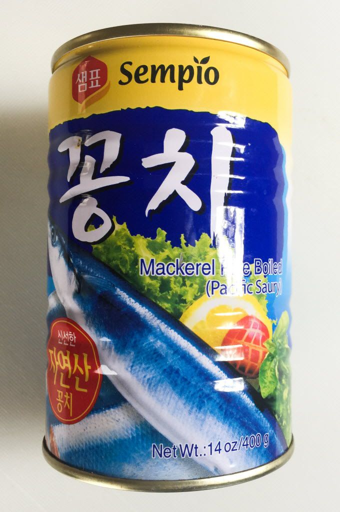Canned saury (mackerel pike) can be found at Asian supermarkets like H-Mart. (Leslie Brenner/Staff)