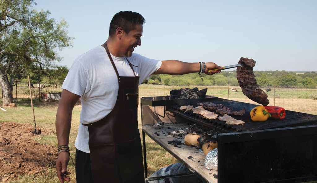 """Chef and restaurateur Adrian Davila of Seguin, TX, is the author of """"Cowboy Barbecue: Fire and Smoke from the Original Texas Vaqueros."""""""