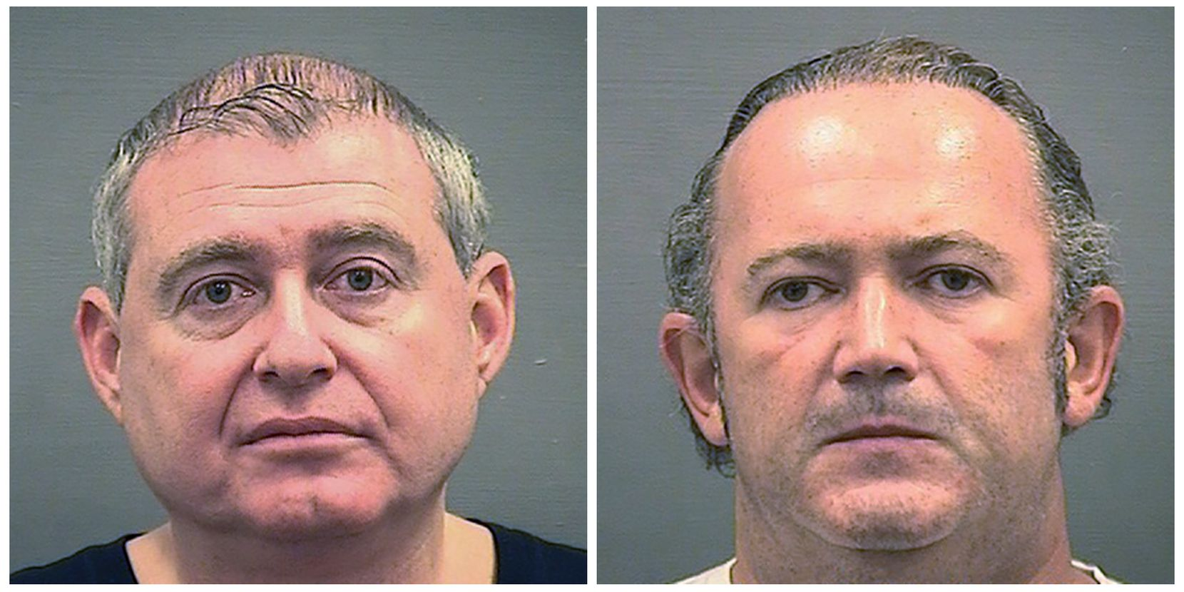 Lev Parnas (left) and Igor Fruman were arrested on Wednesday at Dulles International Airport. (Alexandria Sheriff's Office via AP)