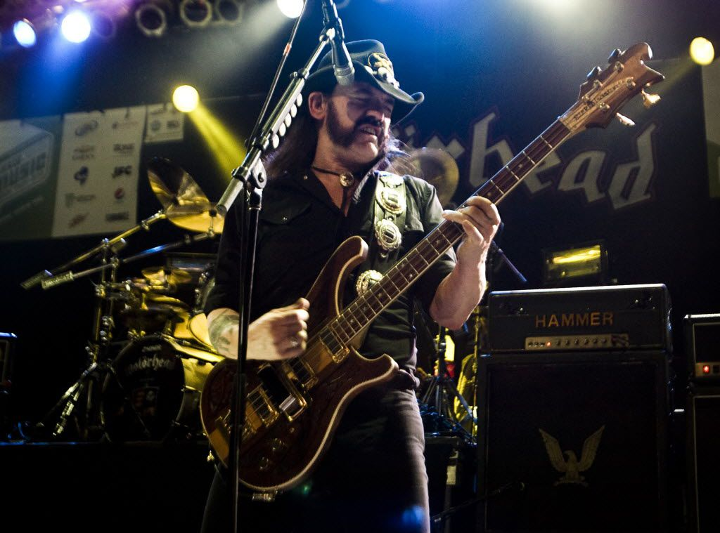 In this Wednesday, March 17, 2010 photo,  Lemmy Kilmister of Motorhead performs at the Austin Music Hall during SXSW in Austin, Texas.