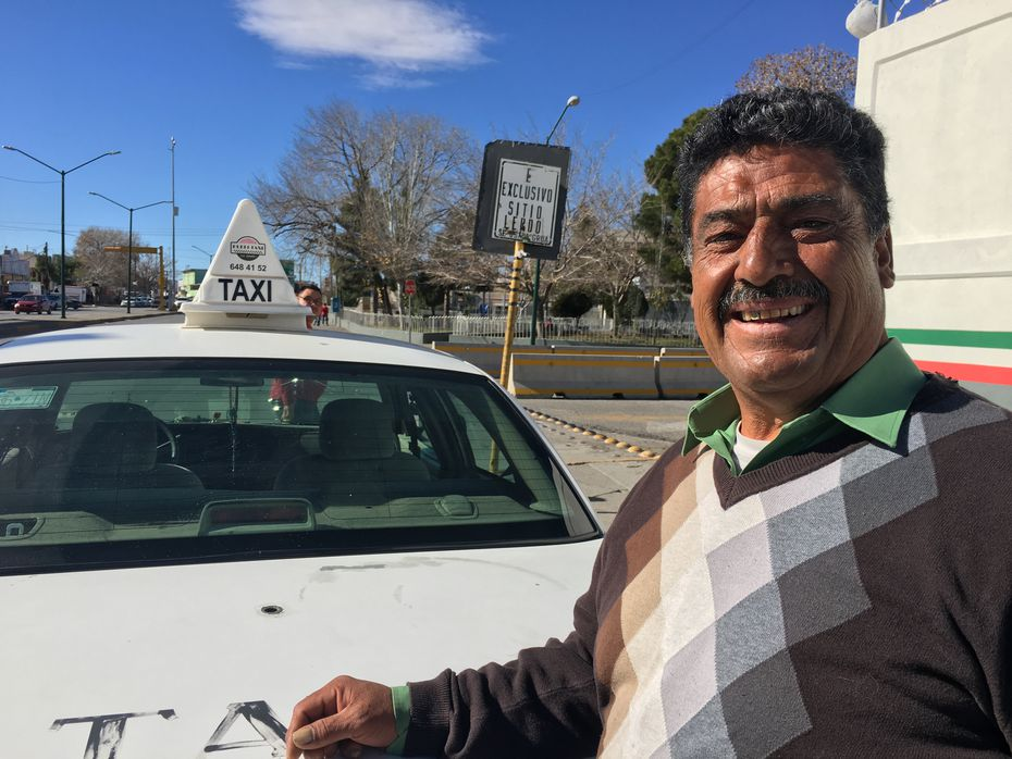 Raul Soledad, a taxi driver in Ciudad Juarez, only had enough cash to buy a quarter of a tank of gas after the 20 percent price hike. (Angela Kocherga/Staff)