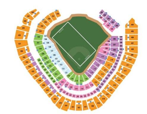 Diagrama del Miller Park de los Brewers, adaptado para partidos de futbol. (Crédito: Milwaukee Brewers)