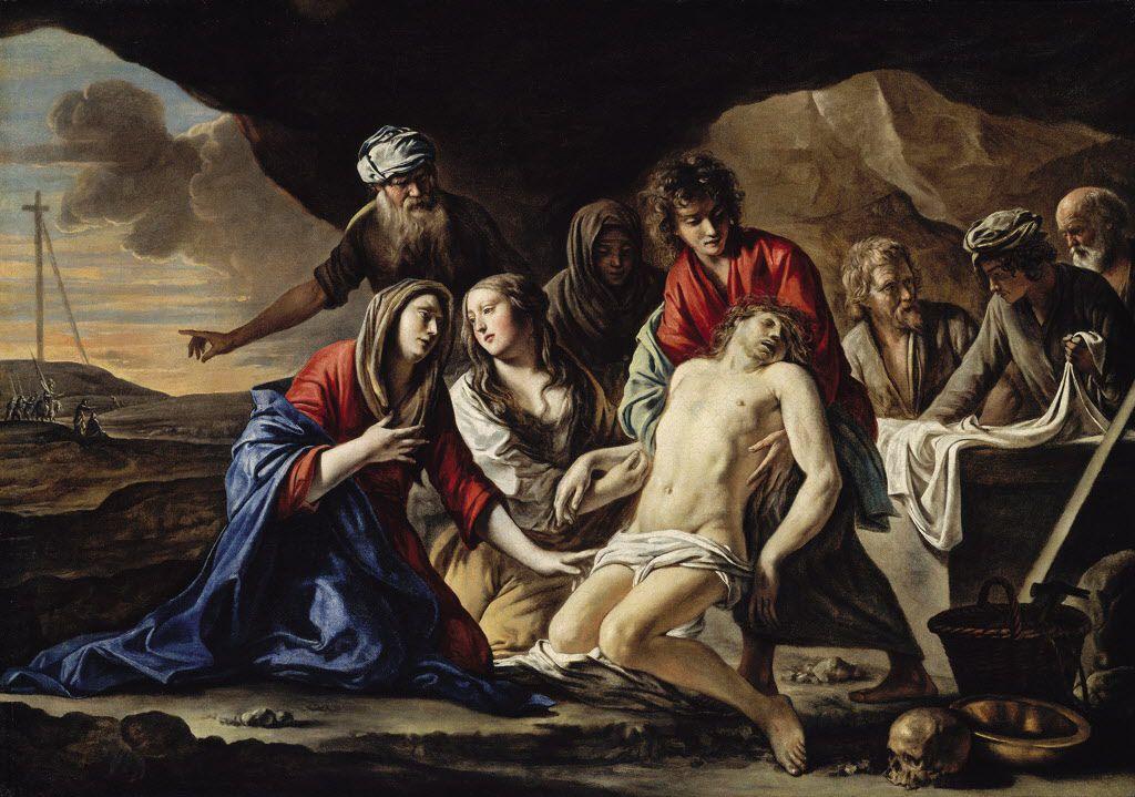 """La pintura """"La sepultura de Jesucristo""""."""