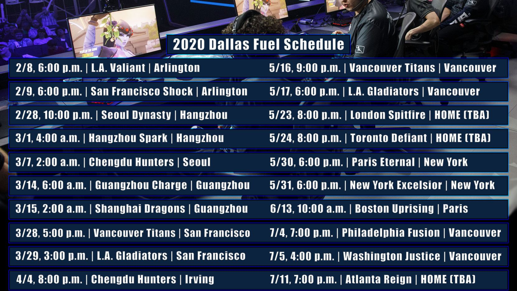 Titans Schedule 2020.We Re Going To Have A Lot Of Eyes On Us How The Dallas