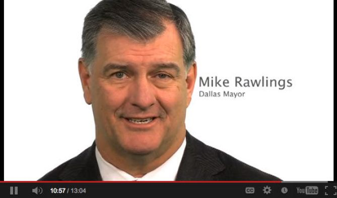"""Mayor Mike Rawlings appears in an anti-bullying video that the city posted to YouTube. His message: """"You can power through this, and while it's difficult, other people have come through it."""""""