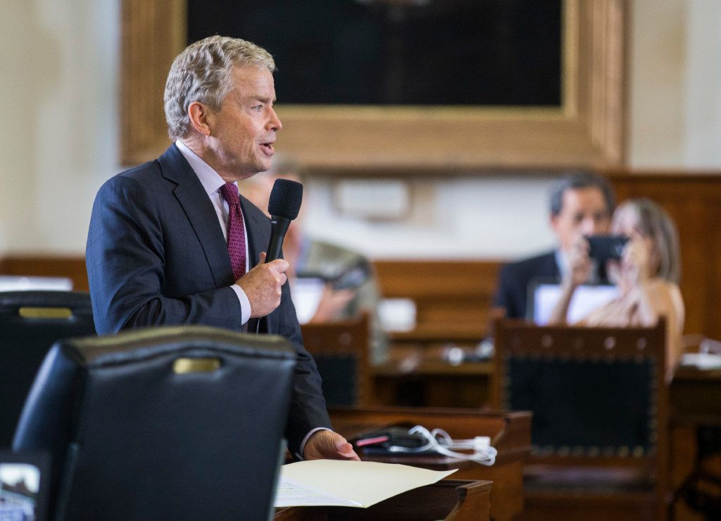 Senator Don Huffines at the Texas state capitol in Austin.