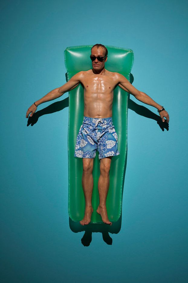 'Drift', mixed media by Ron Mueck (2009) is on display at the Modern Art Museum of Fort Worth