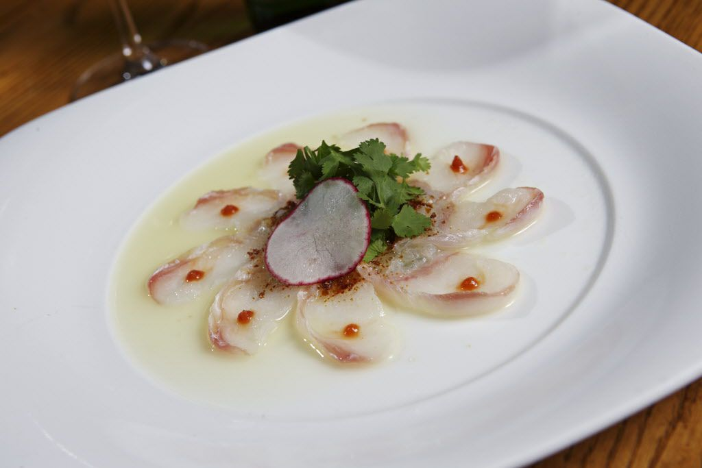 Tiradito Nobu-style, a signature dish at Nobu Dallas