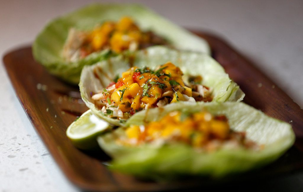 A plate of Ceviche Lettuce Wraps at Studio Movie Grill in The Colony, Texas, Friday, Sept. 23, 2016. The Studio Movie Grill offers a cinema-dining experience to the customers who can order meals at their seats inside 11 auditoriums and the food is served to their seats. (Jae S. Lee/The Dallas Morning News)