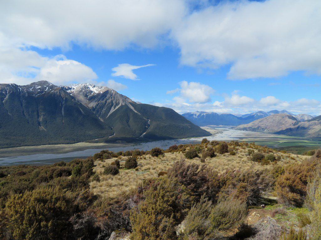 From Bealey Spur Track near Arthur's Pass, hikers can see several peaks up to nearly 7,500 feet .
