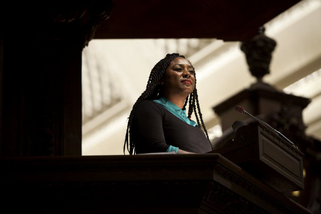 Alicia Garza popularized the phrase Black Lives Matter on social media. (Kayana Szymczak/The New York Times)