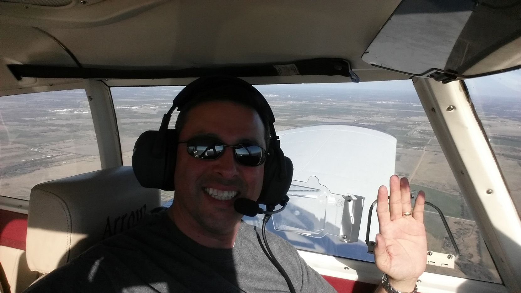 Robert Navar, a 48-year-old Frisco businessman and father of two teenage daughters, was piloting the second plane. (Photo submitted by BROOKE NAVAR)