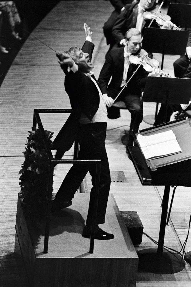 Leonard Bernstein conducts the New York Philharmonic on, May 18, 1969.