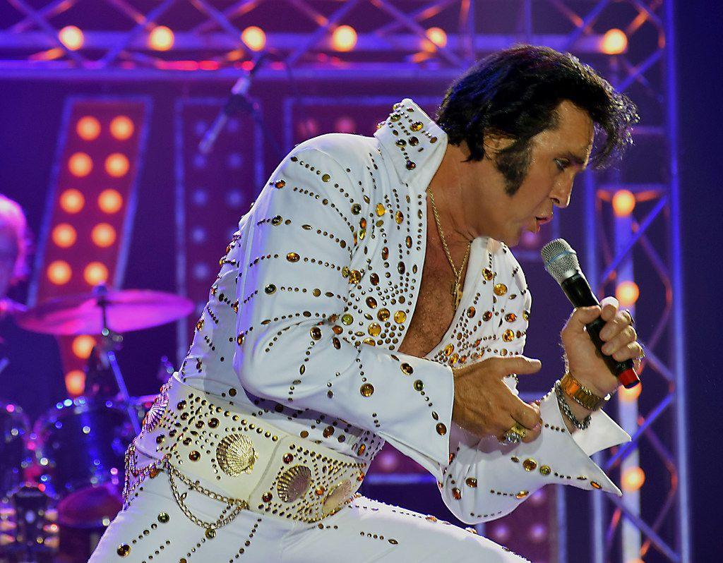 Elvis tribute artist Kraig Parker.   Courtest Kraig Parker, via his publicity photo dropbox. Kraig can be reached at parkerkraig@yahoo.com.