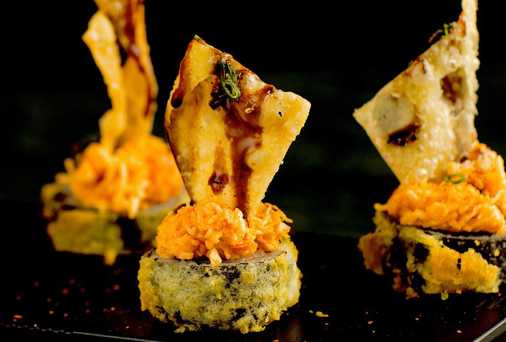 The Hot Mess roll at SushiFork is made with krab, cream cheese and jalapeno, tempura fried. The first SushiFork in Dallas opened in May 2018.