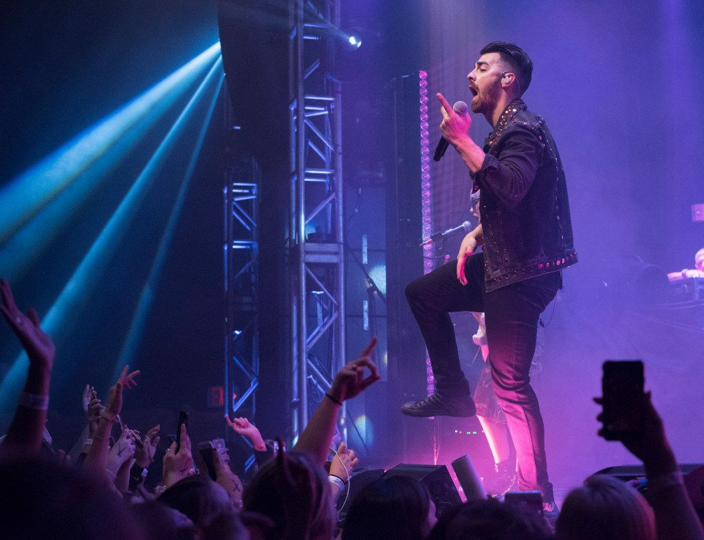 Joe Jonas, of the band DNCE performs at the Granada Theater on Saturday, Jan. 28, 2017.   (Rex C. Curry/Special Contributor)