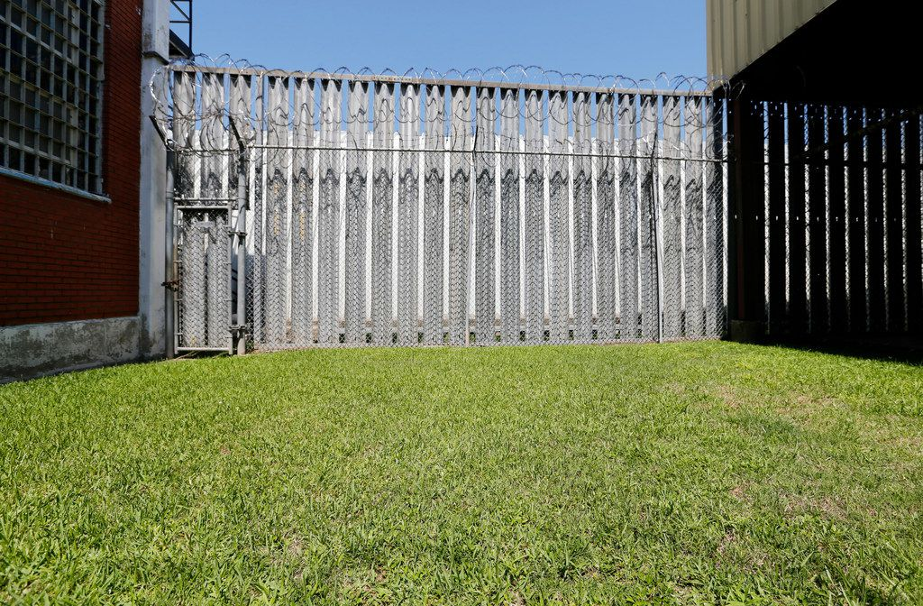 Small area of grass in the recreational area of the COURAGE Program at the O.B. Ellis Unit, a state prison in Huntsville, Texas, on Tuesday, May 29, 2018. The program might add a horticultural program in this area. The youthful offenders are completely separated from the adult offenders.