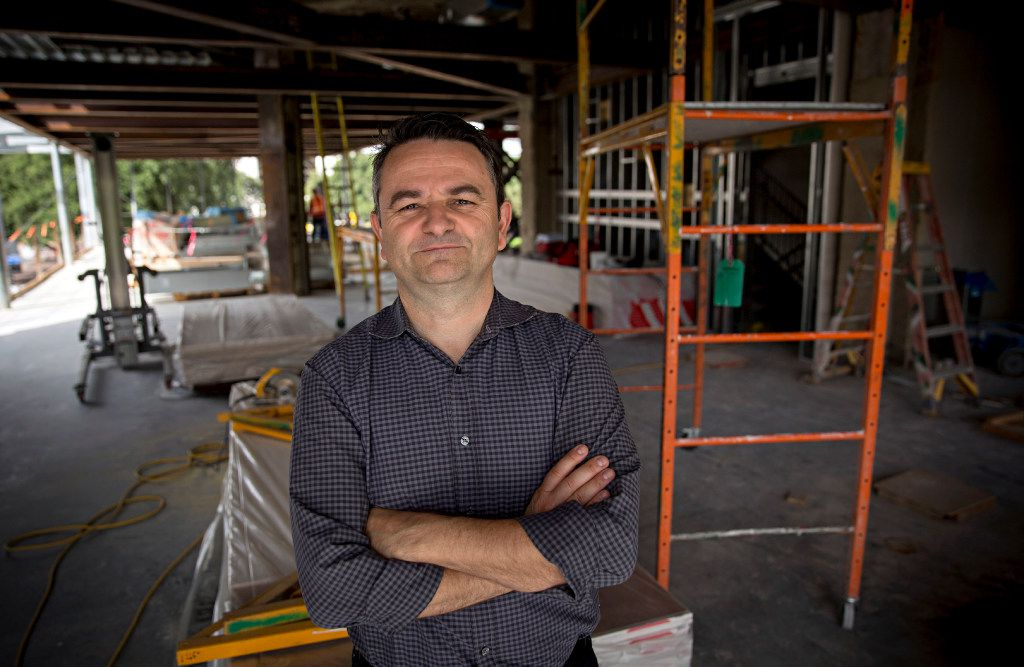 Bruno Davaillon on the construction site of Bullion, the contemporary French restaurant he plans to open at 400 Record Street in April 2017.