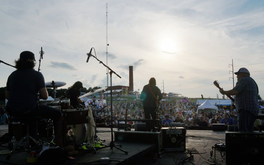 The Hayes Carll (cq) was among several bands to perform at the Untapped Music & Beer Festival at Panther Island in Fort Worth, Texas on Saturday, June 11, 2016. Brewers and bands from all over the country participated.